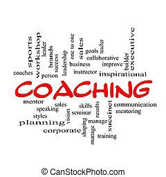 vzkaz, verzálky, klikyháky, coaching, červeň, mračno