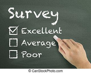 wählen, ausgezeichnet, auf, servicefachkraft, auswertung, form