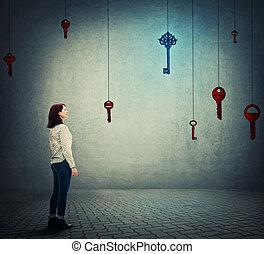 wählen, der, schlüssel