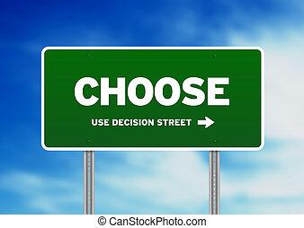 wählen, landstraße zeichen