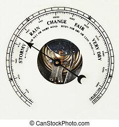 wählscheibe, barometer
