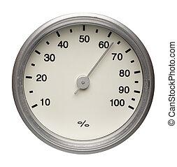 wählscheibe, hygrometer, freigestellt
