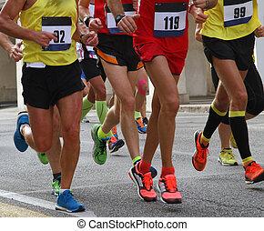 während, athleten, marathon