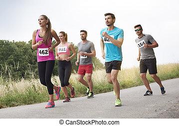 während, form, guten, marathon