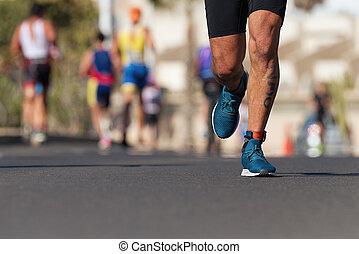 während, marathon, konkurrenz, ironman