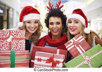 während, shoppen, weihnachten, verrücktheit