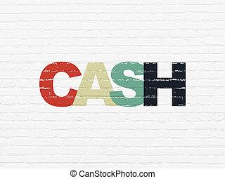 währung, concept:, bargeld, auf, wand, hintergrund