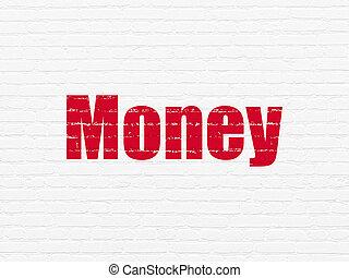 währung, concept:, geld, auf, wand, hintergrund