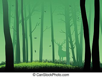 wälder, grün