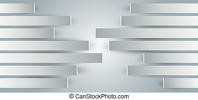 wände, metal-paneled, ansicht