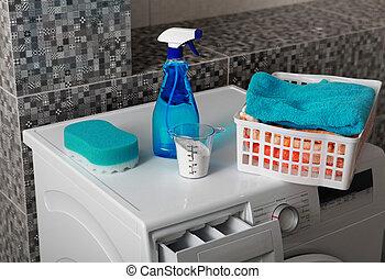 wäscherei, waschpulver