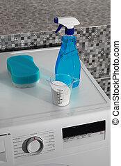 wäscherei, waschpulver, tag