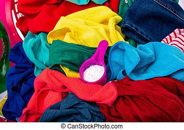 wäscherei, washing., mehrfarbig