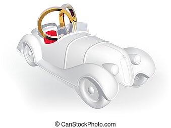 wóz, ślub