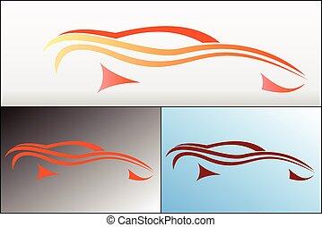 wóz, 2, projektować, logo