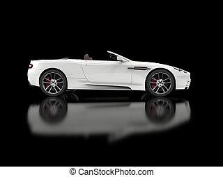 wóz, biały, zamienny, luksus, lekkoatletyka