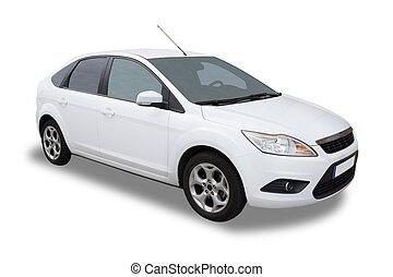 wóz, biały