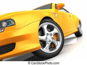 wóz, closeup, lekkoatletyka
