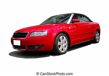 wóz, czerwony, lekkoatletyka