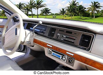 wóz, domowy, retro, rocznik wina, w, karaibski, golfowy bieg