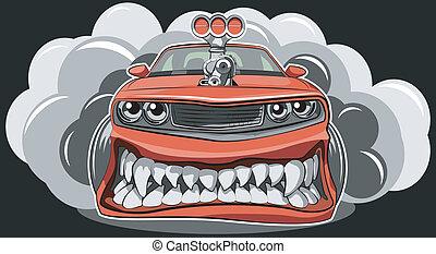 wóz, gniewny