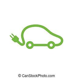 wóz, icon., elektryczny pojazd