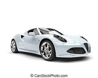 wóz, jasny, biały, luksus, lekkoatletyka
