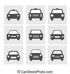 wóz, komplet, ikony