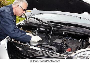 wóz, mechanic.