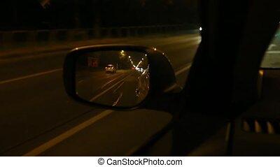 wóz, napędowy, noc