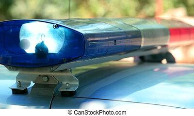 wóz, policja, światła