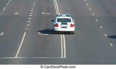wóz, -, policja, hd, 1080