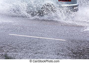 wóz, potopy