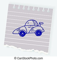 wóz prąd, doodle