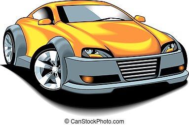 wóz, projektować, oryginał, mój