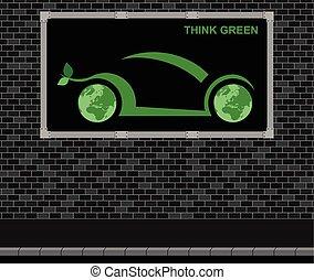 wóz, reklama, deska