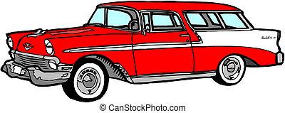 wóz, rocznik wina, ilustracja
