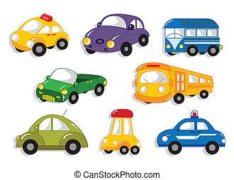 wóz, rysunek, ikona