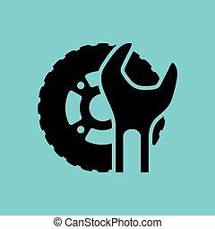 wóz, service., ikony