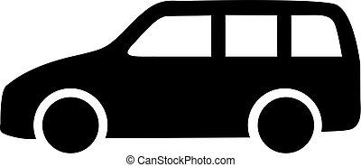 wóz, stacja, ikona