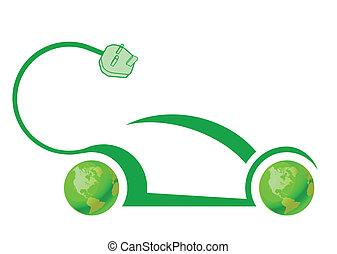 wóz, technologia, elektryczny