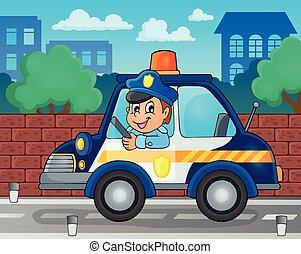 wóz, temat, 2, policja, wizerunek