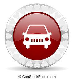 wóz, valentines dzień, ikona