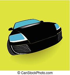 wóz, własny, mój, design.