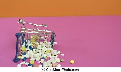 wózek, drugs., mini, obraca, ręka