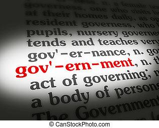 wörterbuch, regierung