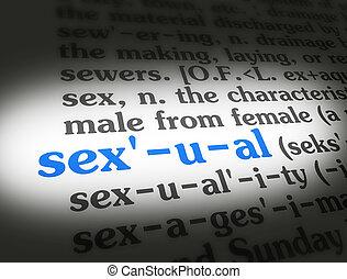 wörterbuch, sexuell