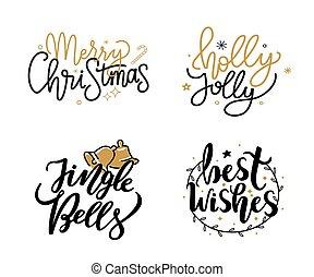 wünsche, fröhlich, jingle, stechpalme, weihnachten, am besten, glocken