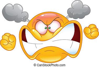 wütend, emoticon