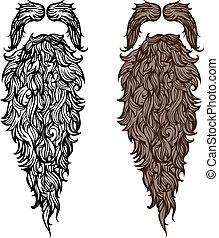 wąsy, broda